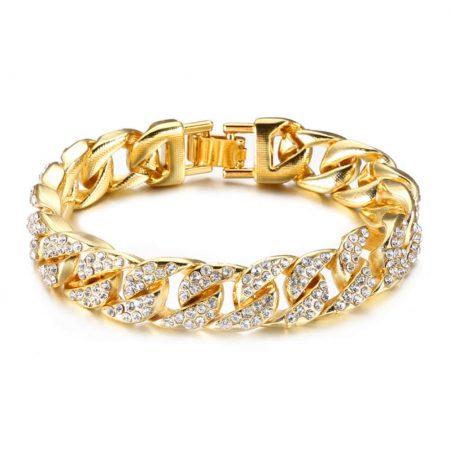 Bracelet Homme Diamant Plaqué